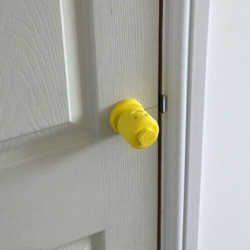 customised 3D print 40mm diameter yellow LEGO Head Drawer//Cupboard door knob