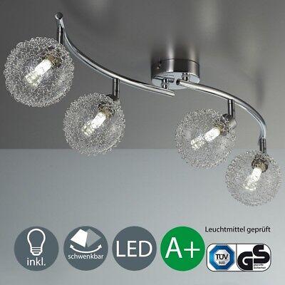 LED Deckenlampe Deckenleuchte Design Spot-Strahler chrom 7W-14W warmweiß 2-4x G9