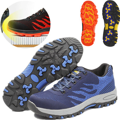 Mens Slip on Steel Toe Cap Safety Hiking Walking Boots Sneakers Shoes Hot