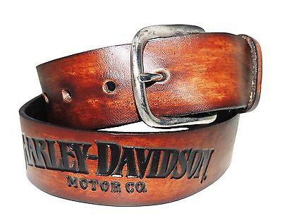 "Harley-Davidson Gürtel ""HARLEY-DAVIDSON"" Ledergürtel *AH225-30* Gr. 30 Inch"