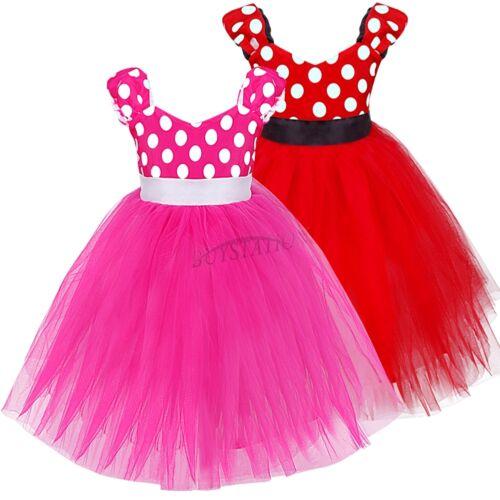 Baby Mädchen Kostüm Polka Dots Festlich Tütü Kleid für Geburtstag Party Fasching