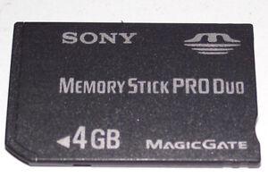 4 gb Memory Stick Pro para Sony Cyber-shot dsc-p93
