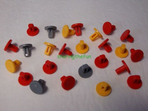 25 KNEX Track Connector Pegs Pins K/'nex Mario Kart Replacement Parts//Pieces Lot