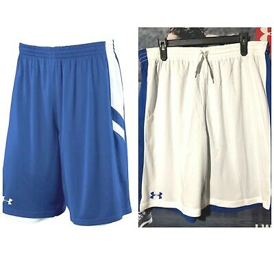 White 2xl Under Armour mens Undeniable reversible  Basketball Shorts  Navy