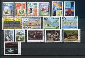 FAROE-ISLANDS-1991-MNH-COMPLETE-YEAR-16-Stamps