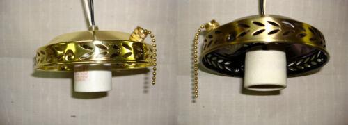 Ceiling Fan Light Kit Antique Brass Single AB Fixture Fitter PB Polished Brass