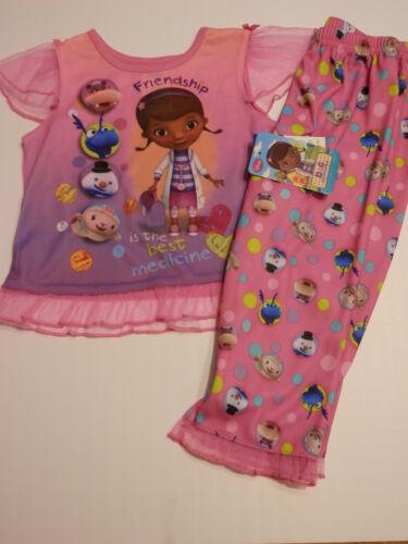 Disney Doc Mcstuffins NWT 2 pc Pajama Pant Set Size 2T 3T