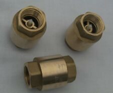 "BRASS ONE WAY VALVE, 3/4"", FOR WATER PIPES AND PUMPED SYSTEMS TO STOP BACK FLOW."