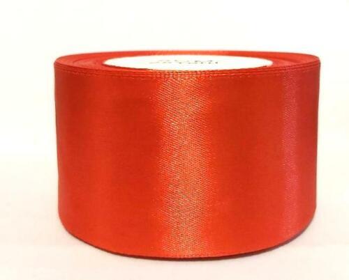 3m Satin Ribbon RED 50mm wide 2 inch party bridal wedding dress craft decor