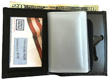 Hero's Pride Badge & ID Wallet with Card Holder and Cash Slot 5 Point Star Badge