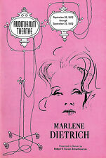 An Evening With MARLENE DIETRICH / Burt Bacharach 1972 Denver Playbill