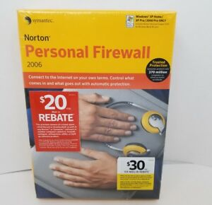 Details about Norton Personal Firewall 2006 Symantec NEW Computer PC  Software FREE SHIPPING