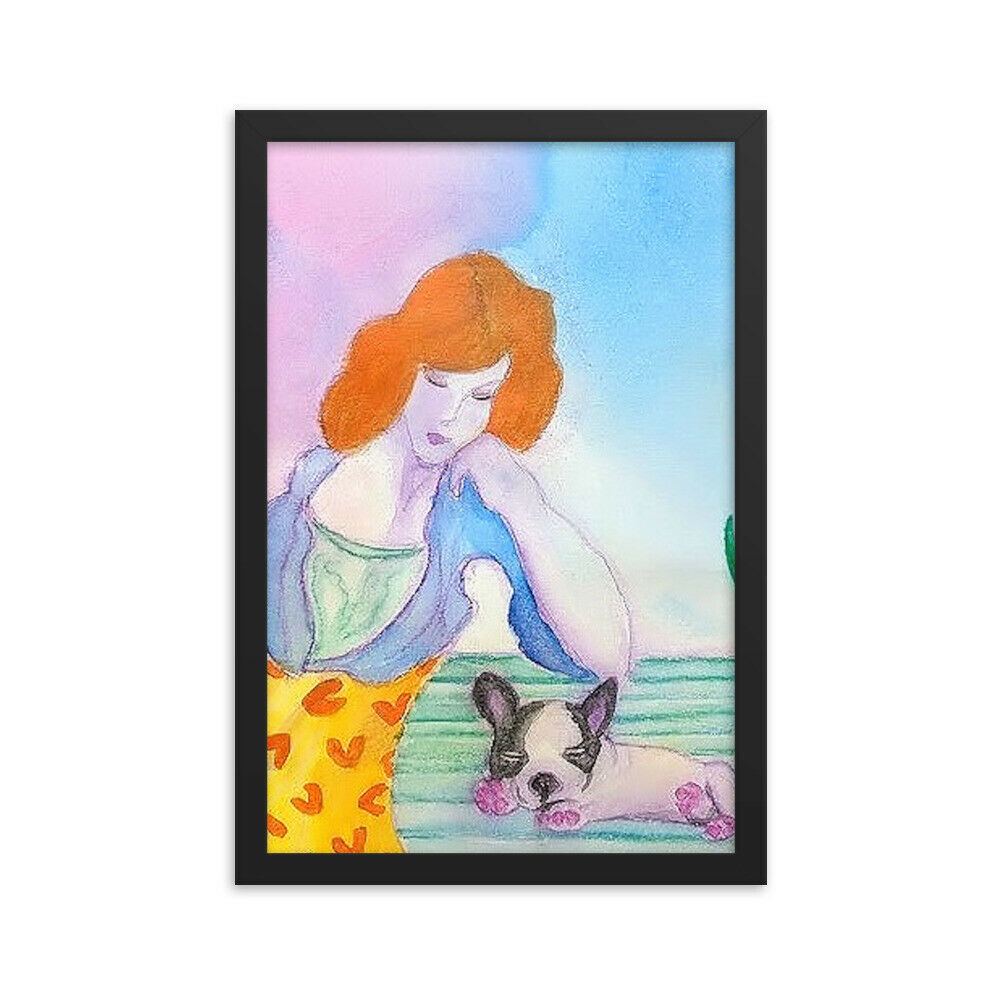 Lady and Her Puppy Framed poster
