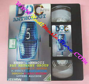 VHS-DOC-ANTHOLOGY-5-Jannacci-Pat-Metheny-Turci-Denovo-VIDEORAI-no-cd-dvd-lp