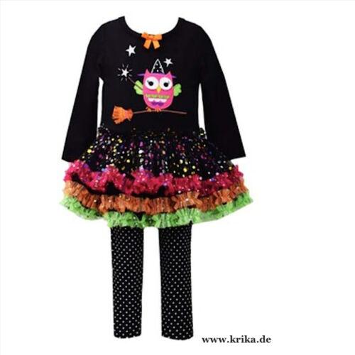BONNIE JEAN 2tlg.SET Kleid /& Leggings WITCH OWL B25436PL MädchenOutfit Hexe Eule