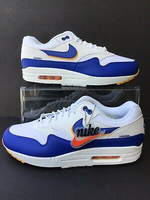 Men's WhiteGame RoyalUniversity Gold Air Max 1 SE Shoes