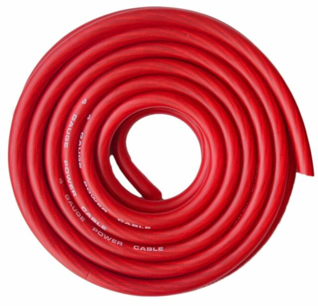 4 Gauge 20 Feet Copper Mix Red Flex Power Wire Strands