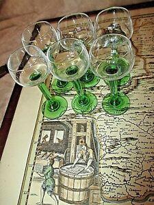 serie-de-6-anciens-petits-verres-a-liqueurs-vintage-1960-verres-d-039-Alsace