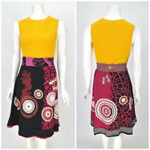 Womens-Desigual-Cotton-Skirt-Multicolored-Stretch-Floral-Print-Size-L