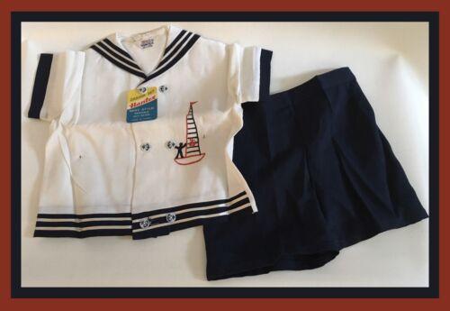 Vintage Boys Sailor Suit/Cabana Set - Hantex - Unw
