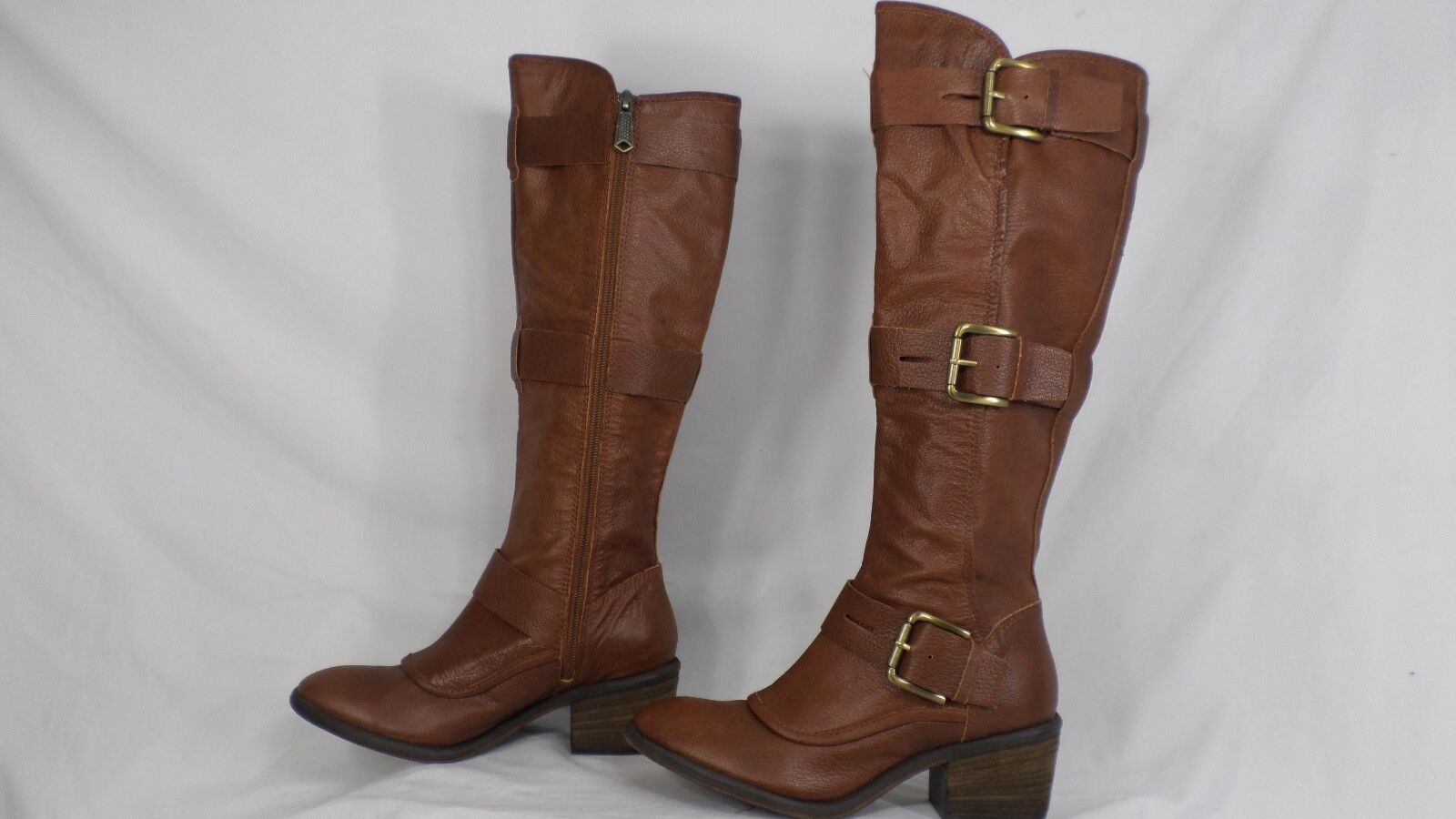 Donald J Pliner  Dax  Marroneee Leather Buckled Knee High avvio donna Dimensione 6 M