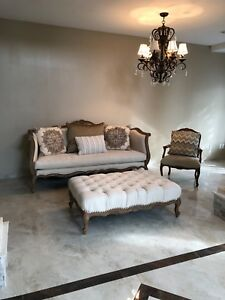 Awe Inspiring Details About Fancy Michael Amini Ottoman Couch Set Price Negotiable Beatyapartments Chair Design Images Beatyapartmentscom