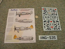 AeroMaster decals 1/48 48-533 Hawaiiian National guard P-47d Thunderbolts   M155