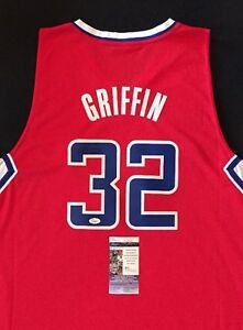 release date 68aec 914e9 BLAKE GRIFFIN LOS ANGELES CLIPPERS SIGNED Red Jersey JSA NBA ...