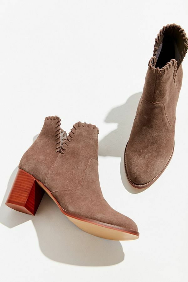 Urban Outfitters Bootie NWB size 6 Grey Suede Ankle Boot shoes Whip Stitch