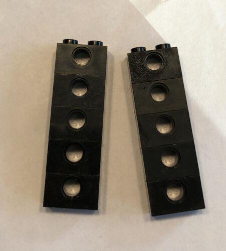 QTY 10 No 3700 Black Technic Brick 1 x 2 w Hole Details about  /LEGO Parts