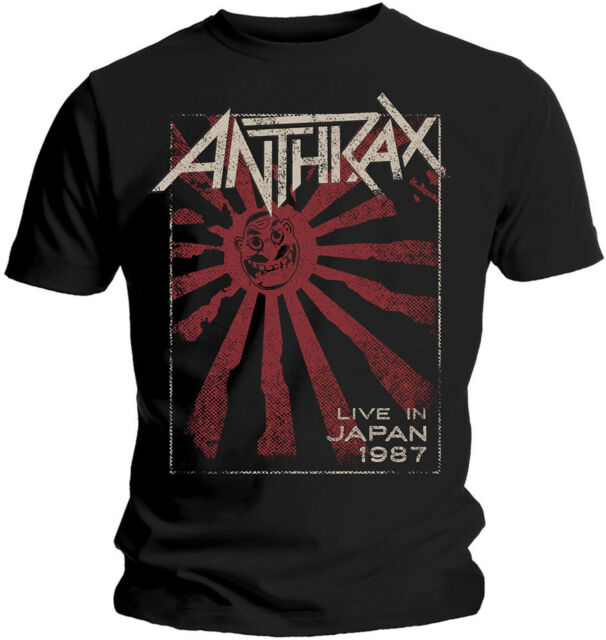 Anthrax live in Giappone 1987 T-SHIRT OFFICIAL MERCHANDISE
