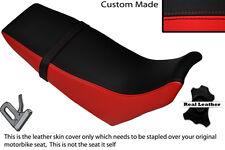 Negro Y Rojo Custom Fits Yamaha Dt 125 04-07 Doble Cuero Funda De Asiento