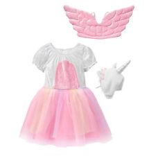 Gymboree Unicorn Costume Dress, Headpiece (Hat) & Wings Girls 2015 Size 5-6 New