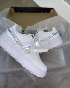 Detalles acerca de Cristal Nike Air Force 1 Sombra Blanco Mujer Zapatillas