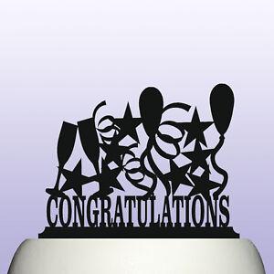 acrylic congratulations sign cake topper decoration keepsake