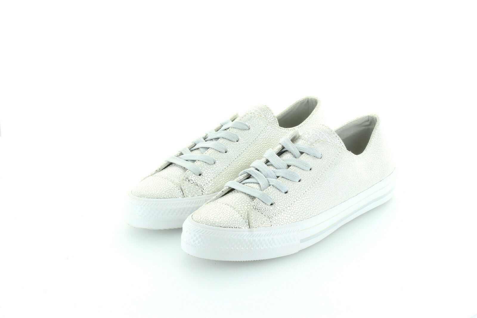 Converse All Star Chuck Taylor Ox Crusty argent Gemma Leather Taille 37,5 38