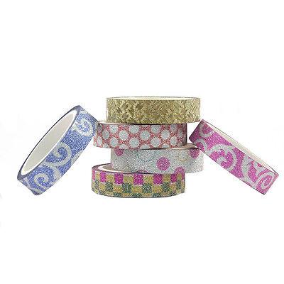 Glitter Graphic Designer Colorful Glitter Tape Set For Art & Craft  (6 Pcs Set)