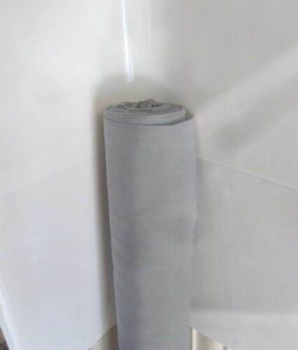 Superior Qualité Uni Gris Poly Coton vendu au mètre