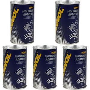 5x300ml-MANNOL-9991-Oiladditiv-Molibden-Additive-Motoroelzusatz-MOS2-Oladditiv