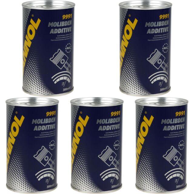 5x300ml MANNOL 9991 Oiladditiv Molibden Additive Motorölzusatz MOS2 Öladditiv