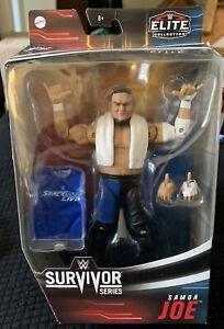 WWE-Wrestling-figure-Mattel-Elite-Samoa-Joe-SURVIVOR-SERIES-RARE-dans-la-main-Comme-neuf