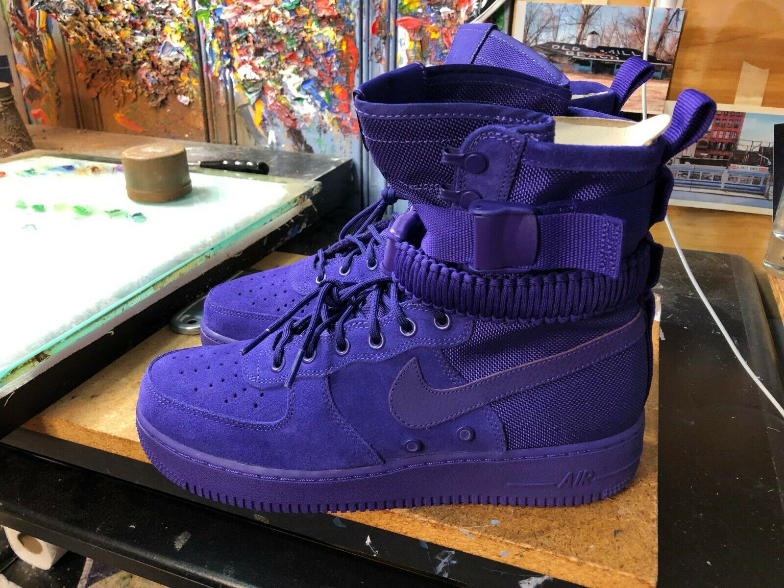 Nike SF AF 1 Air Force 1 Court Purple Suede  Size US 12 Men 864024 500 New