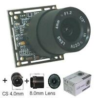 Sunvision 1200tvl 1/3 Hd Super Cmos Osd Board Camera + 2 Cs Lenses (bc12lo)