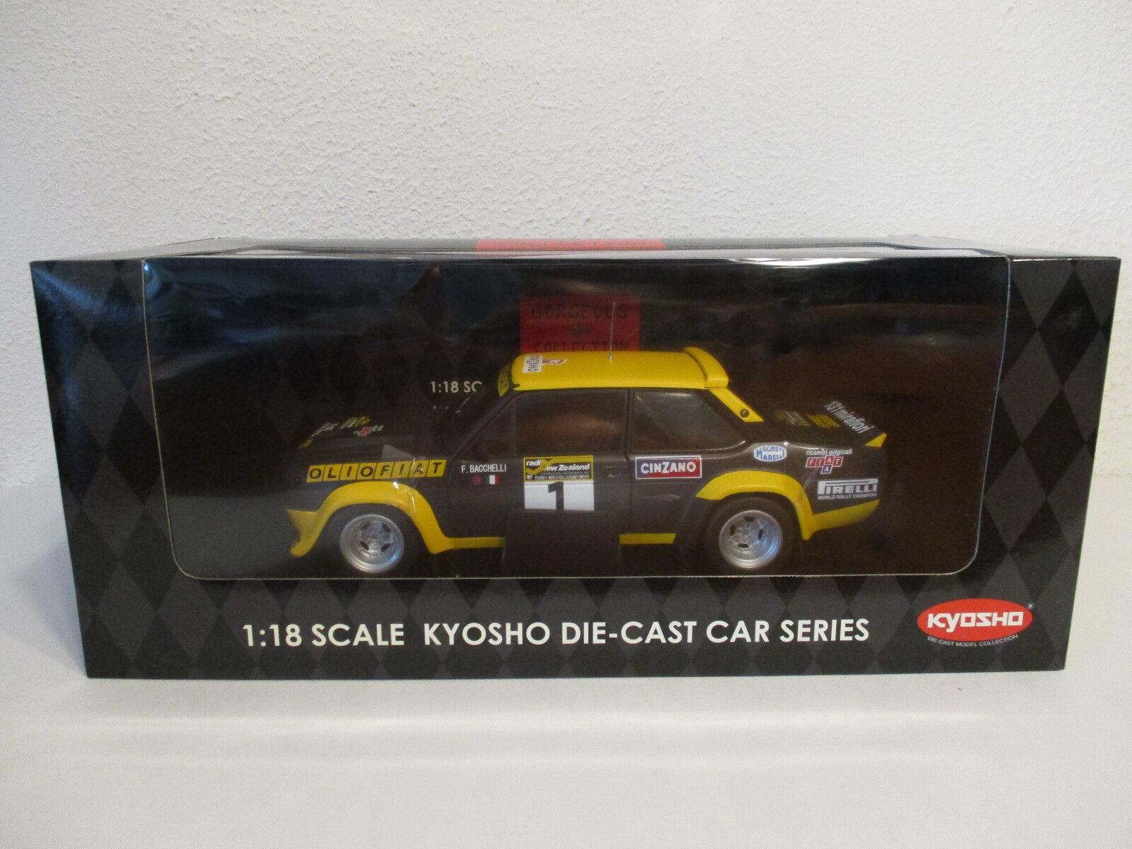 (gol) 1 18 Kyosho Fiat 131 Abarth 1977 rally New Zealand nuevo embalaje original