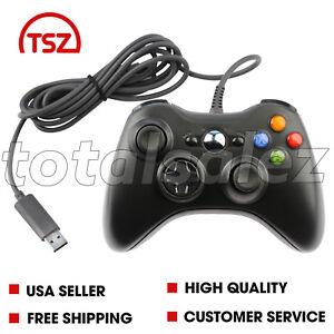 Pour-XBOX-360-Noir-USB-PC-WINDOWS-Video-Game-Pad-Controller-Remote-PC-Windows
