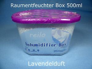 6x 500ml Lavendel Auto- Raum- Luftentfeuchter Box mit je 230g Granulat