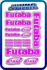 FUTABA SERVO RADIO RX TX 2.4G FLIGHT REMOTE CONTROL STICKERS FASST PINK W DRIFT