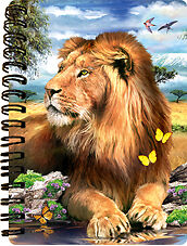 NEW 3D LiveLife LIONS BY THE POOL Jotter lenticular notebook