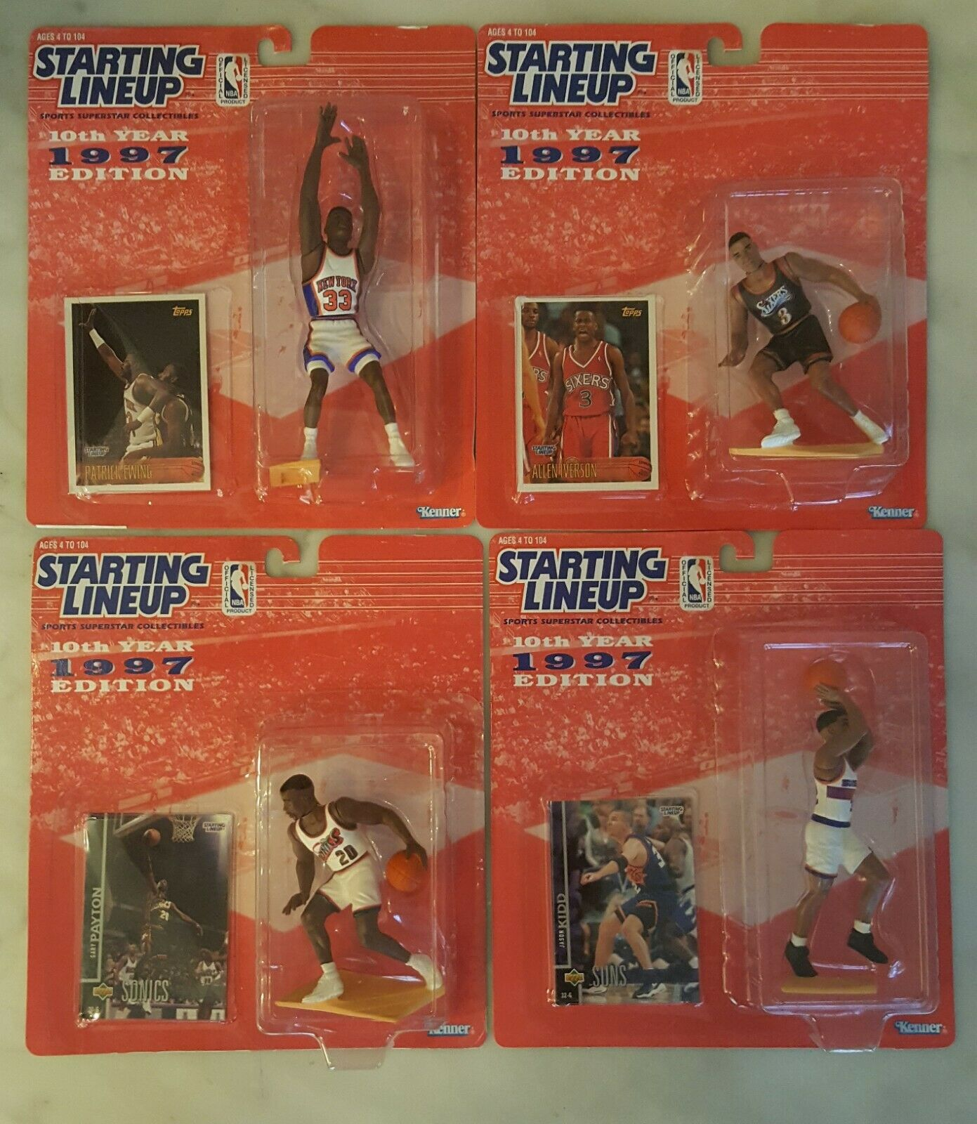 1997 NBA Starting Lineup Complete Set (38 Figures) by Hasbro Kenner