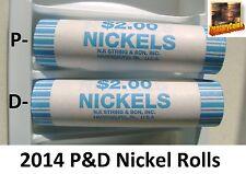 2014 P + D Nickel Roll - 2014 Jefferson Nickel Rolls (N.F.String & Son Wrap)
